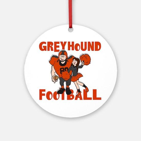 GREYHOUND FOOTBALL (4) Ornament (Round)