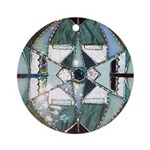 Stained Glass Mandala Ornament (Round)