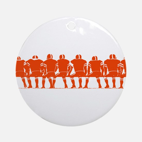 PLAYERS ON BENCH (orange) Ornament (Round)