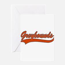 GREYHOUNDS (1) Greeting Card