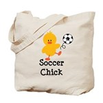 Soccer Chick Tote Bag