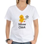 Soccer Chick Women's V-Neck T-Shirt