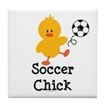 Soccer Chick Tile Coaster