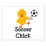 Soccer Chick Small Poster