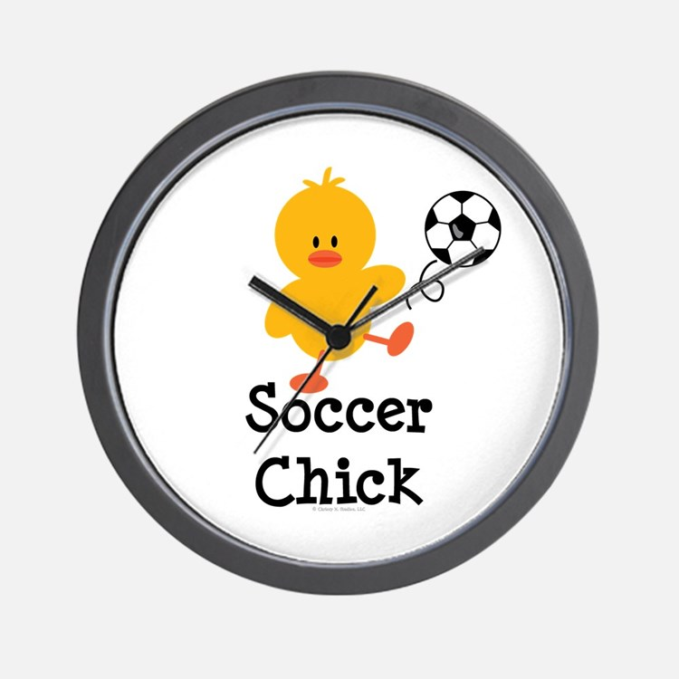 Soccer Chick Wall Clock