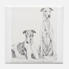 Tile Coaster Greyhounds