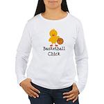 Basketball Chick Women's Long Sleeve T-Shirt