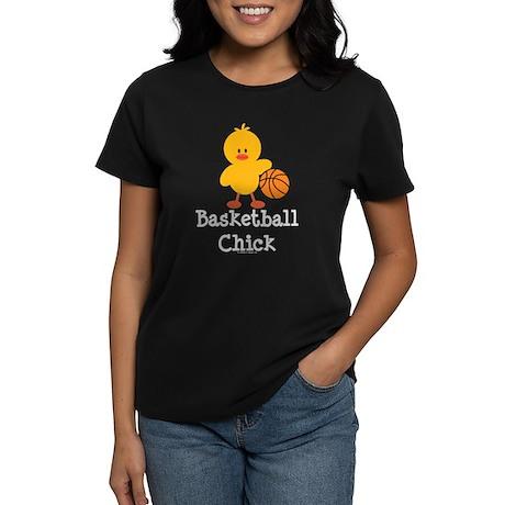 Basketball Chick Women's Dark T-Shirt