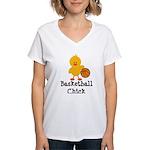 Basketball Chick Women's V-Neck T-Shirt