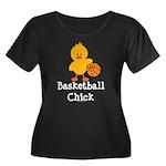 Basketball Chick Women's Plus Size Scoop Neck Dark