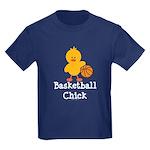 Basketball Chick Kids Dark T-Shirt