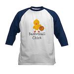 Basketball Chick Kids Baseball Jersey