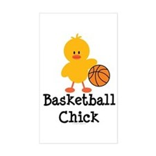 Basketball Chick Rectangle Decal