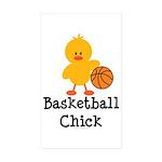 Basketball Chick Rectangle Sticker 10 pk)
