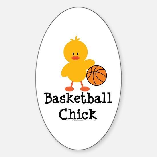 Basketball Chick Oval Decal