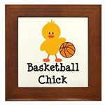 Basketball Chick Framed Tile