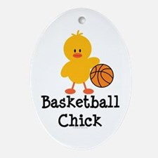 Basketball Chick Oval Ornament
