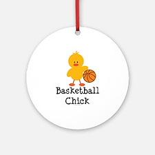Basketball Chick Ornament (Round)