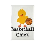 Basketball Chick Rectangle Magnet (10 pack)