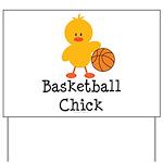 Basketball Chick Yard Sign