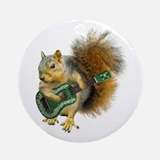 Squirrel Ukulele Ornament (Round)