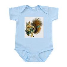 Squirrel Ukulele Infant Bodysuit