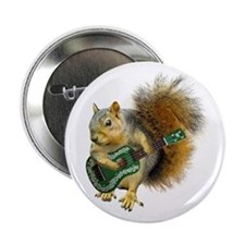 "Squirrel Ukulele 2.25"" Button"