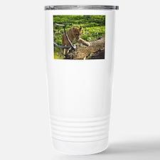 Lion Cub Climbing Stainless Steel Travel Mug