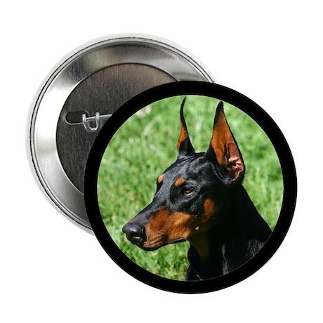 """Doberman Pinscher Dog 2.25"""" Button"""