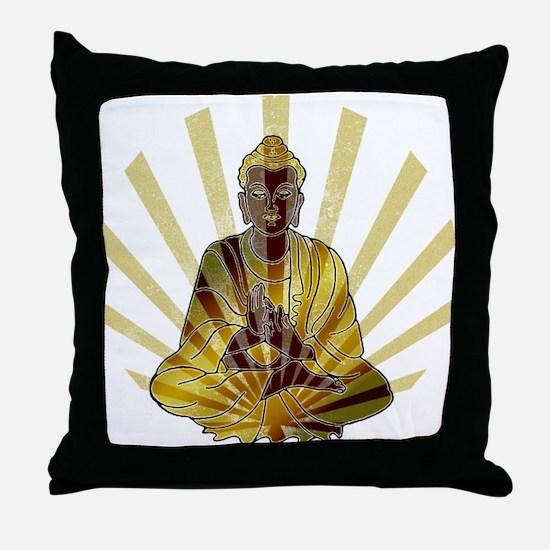 Riyah-Li Designs Vintage Buddha Throw Pillow