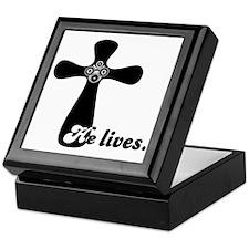 Riyah-Li Designs He Lives Keepsake Box