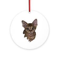 Devon Rex Cat Ornament (Round)