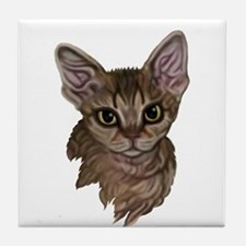 Devon Rex Cat Tile Coaster