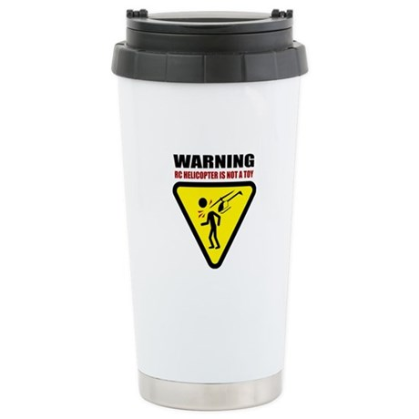 Caution Stainless Steel Travel Mug