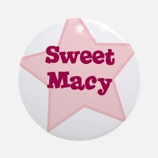 Sweet Macy Ornament (Round)