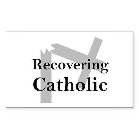 Recovering Catholic Rectangle Sticker