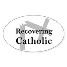 Recovering Catholic Oval Decal