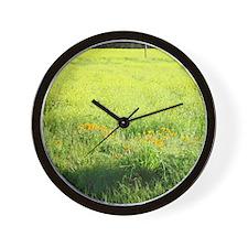 Napa Valley Home Decor Wildflowers Wall Clock