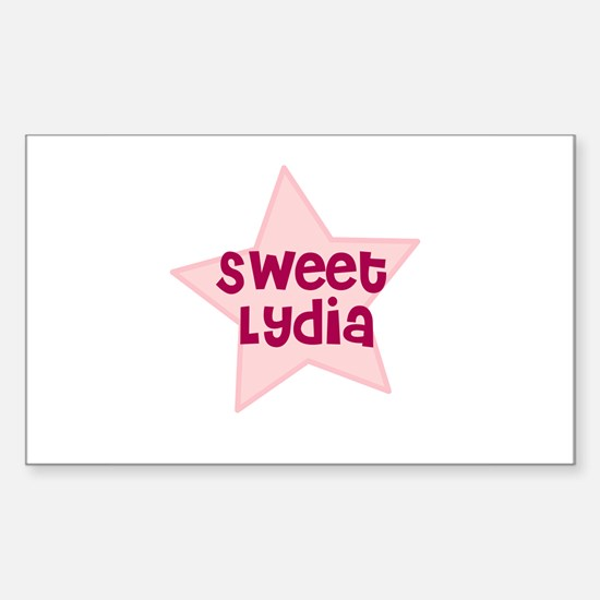 Sweet Lydia Rectangle Decal
