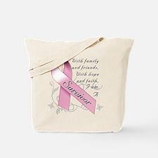 Cute Breast cancer awareness Tote Bag