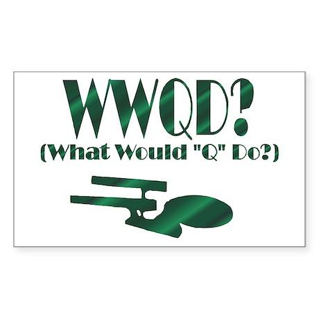 WWQD? Rectangle Sticker