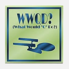 WWQD? Tile Coaster