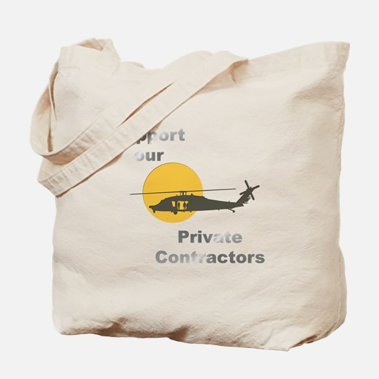 Support our Private Contractors Tote Bag