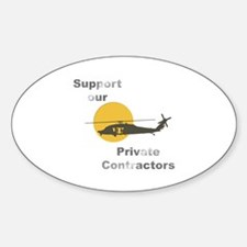 Support our Private Contractors Oval Decal
