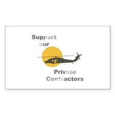 Support our Private Contractors Decal