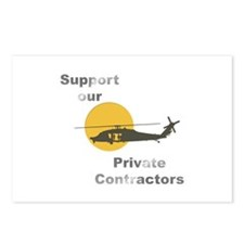 Support our Private Contractors Postcards (Package