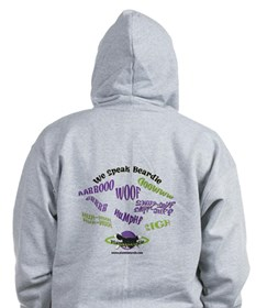 We Speak Beardies Zip Hoodie