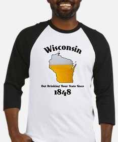 WISCONSINS BETTER THEN YOU LARGE Baseball Jersey