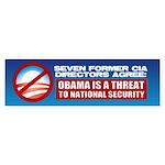 Seven CIA Directors Bumper Sticker (10 pk)