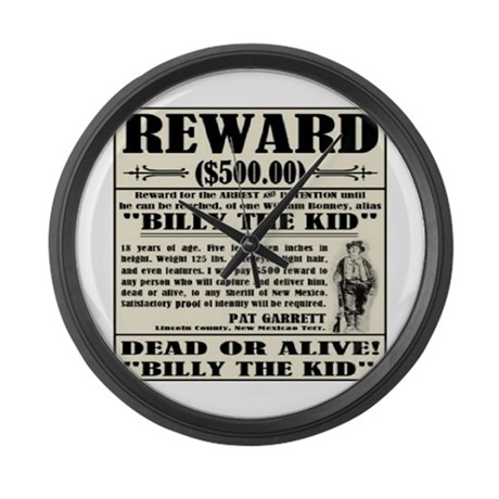 Billy the Kid Large Wall Clock